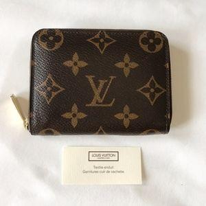 Louis Vuitton Monogram Zippy Coin Purse Wallet